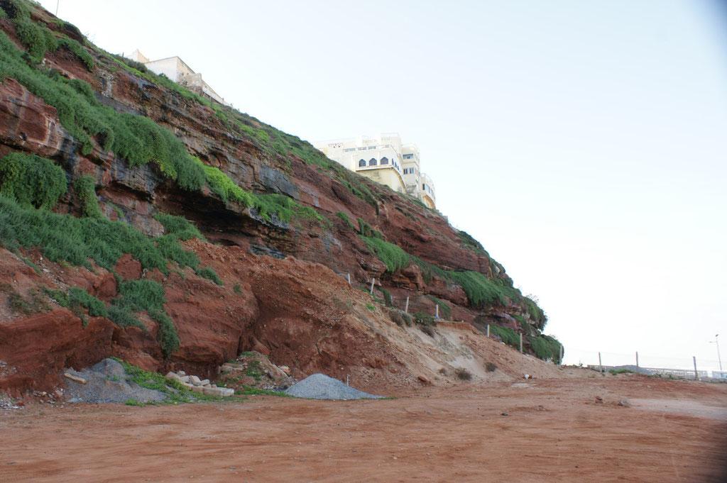 Der Fels von unten