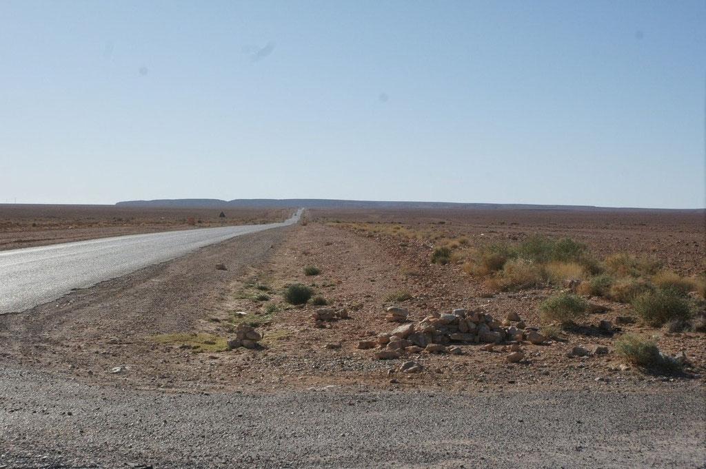 Nur Wüste ist zu sehen