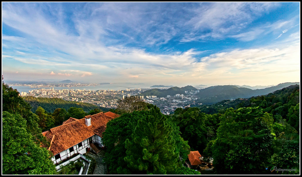 Blick vom Penang Hill auf George Town / Penang / Malaysia