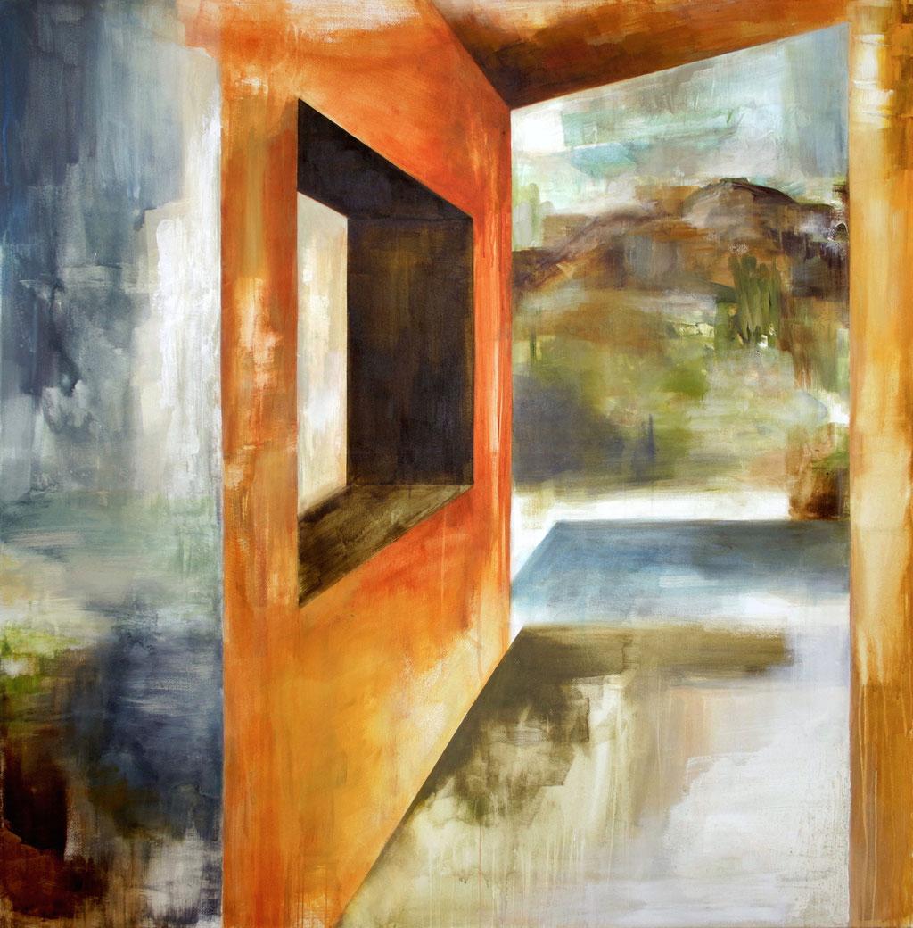 Durchblick,  160 x 160 cm, Acryl auf Leinwand, 2015.  /verkauft/