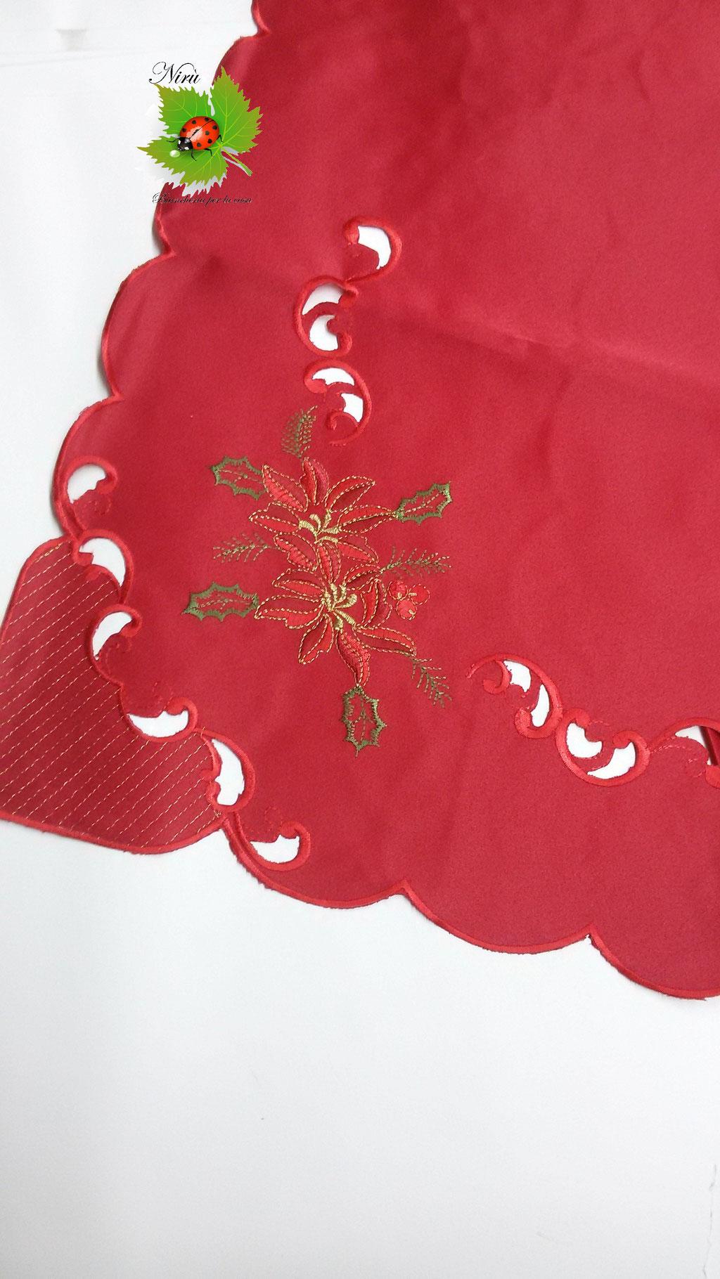 Copritavola tovaglia natalizia da 12 posti 140x240 cm. B108