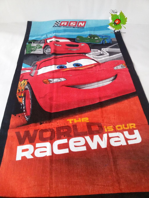 Telo mare e piscina Cars 70x140 cm. Art.A127