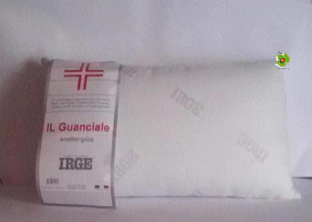 Cuscino Guanciale IRGE anallergico misure 50x80cm Bianco Art. N44