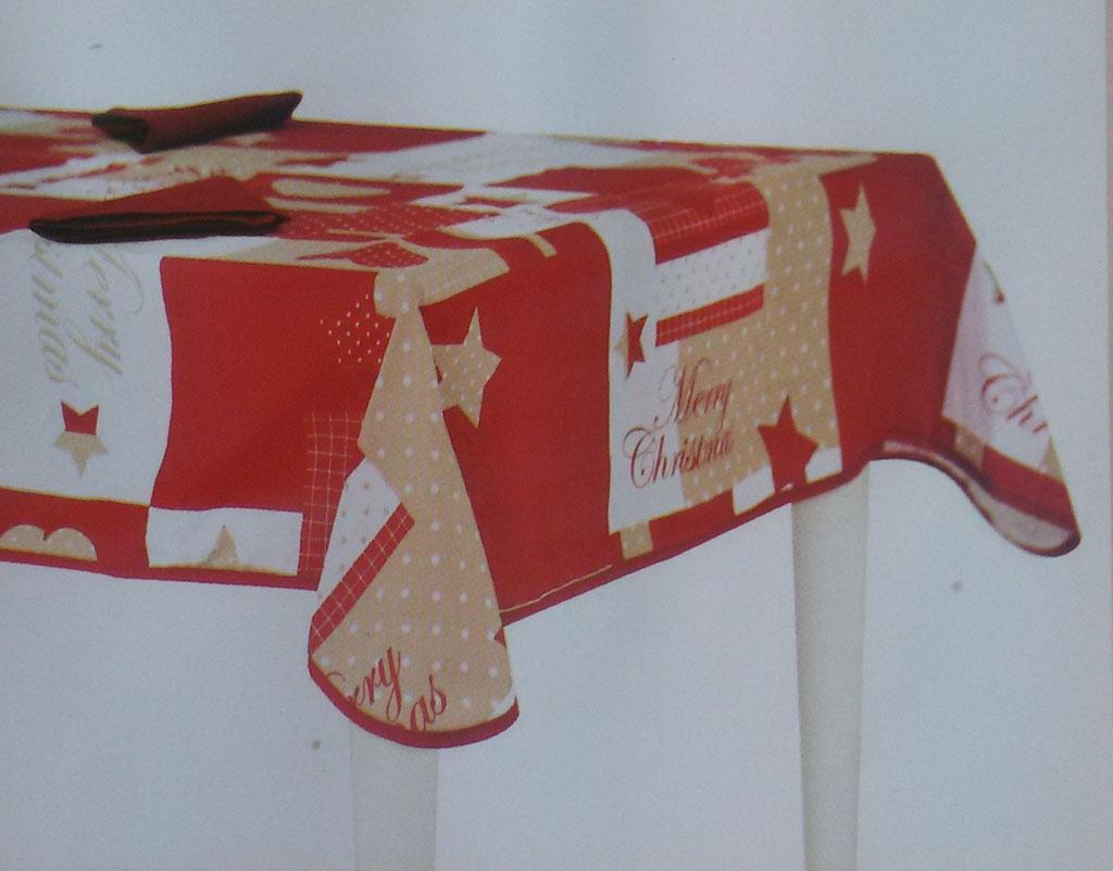 Tovaglia da tavola Natalizia da 6 posti con tovaglioli 140x180 cm. B57