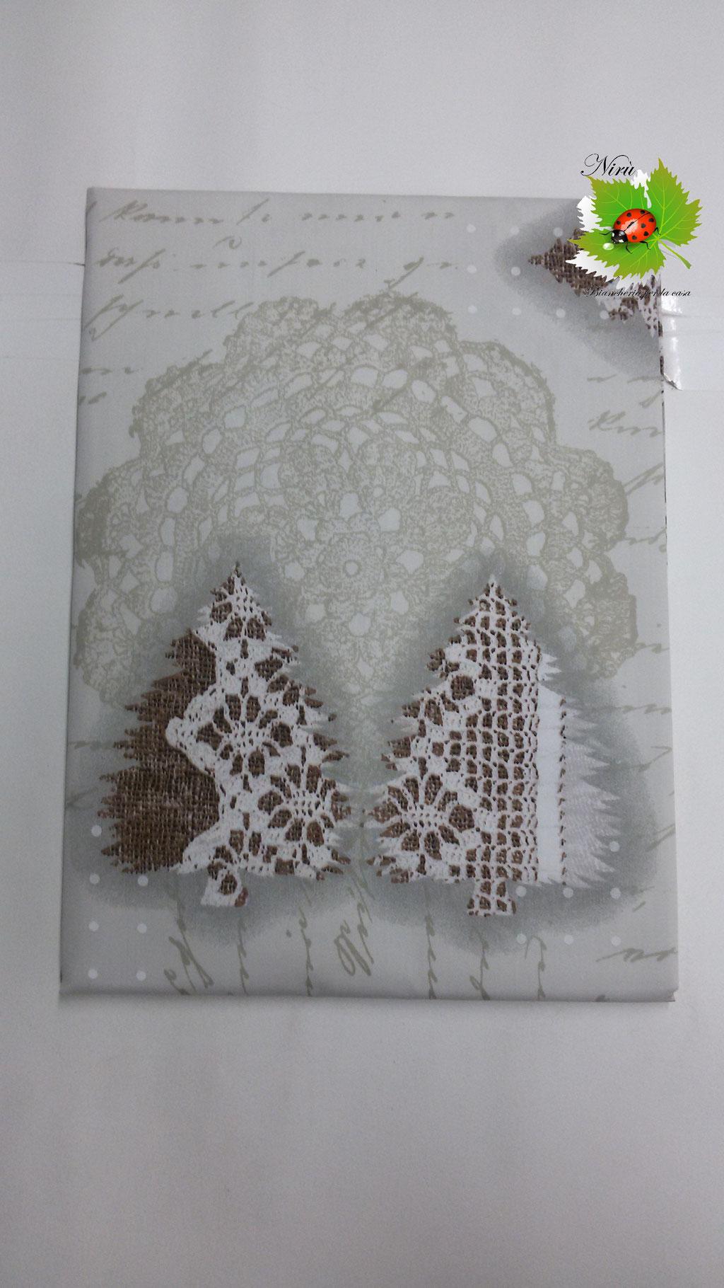 Tovaglia natalizia da 24 posti 140x450 cm. Col.Panna.B106