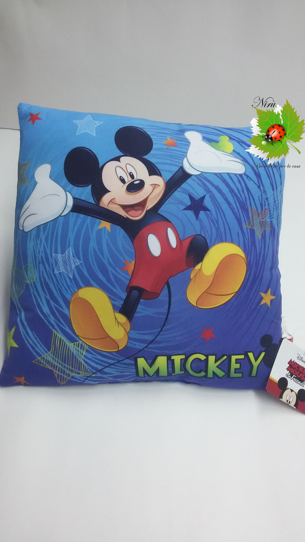 Cuscino arredo Topolino Disney originale 40x40 cm. A891
