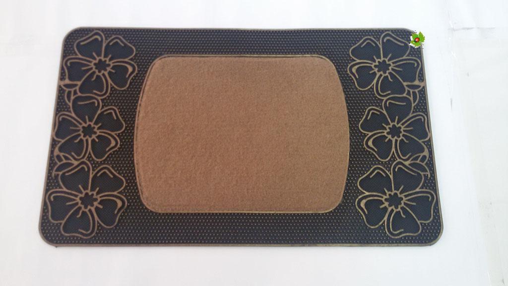Tapprto zerbino gommato antiscivolo rettangolare 45x74 cm. Col. Beige. Art.N04