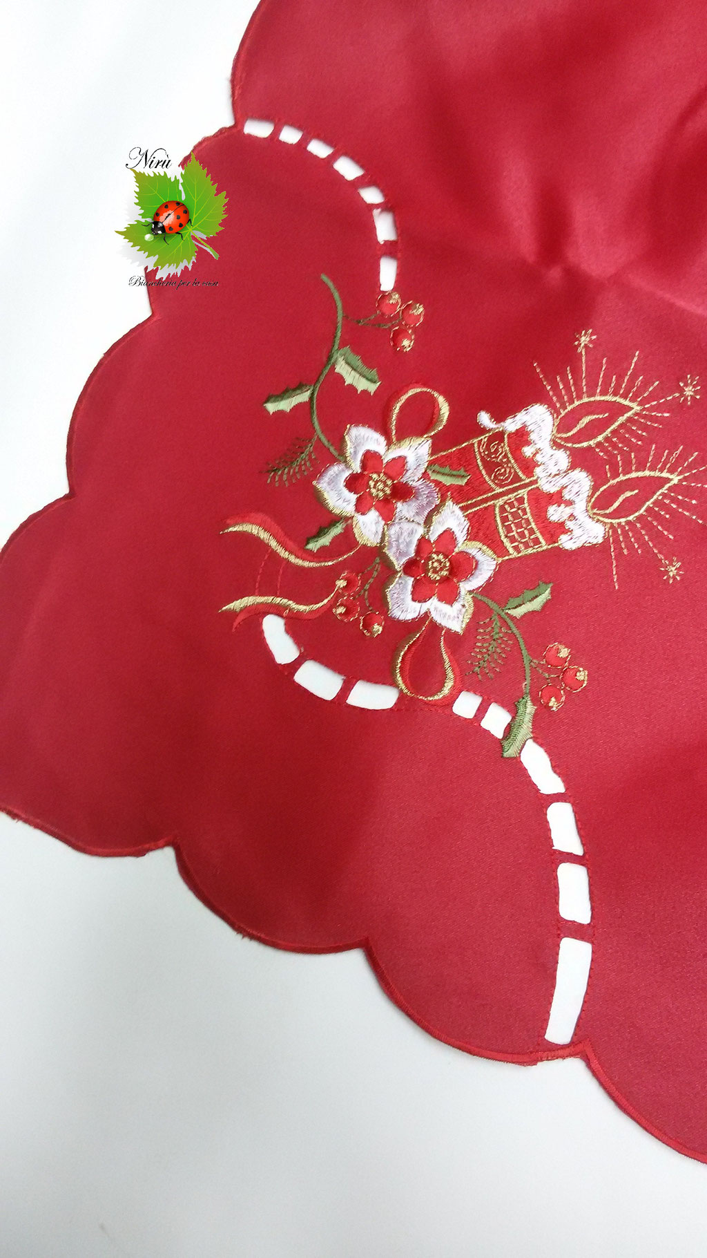 Copritavola tovaglia natalizia da 6 posti 140x180 cm. B83