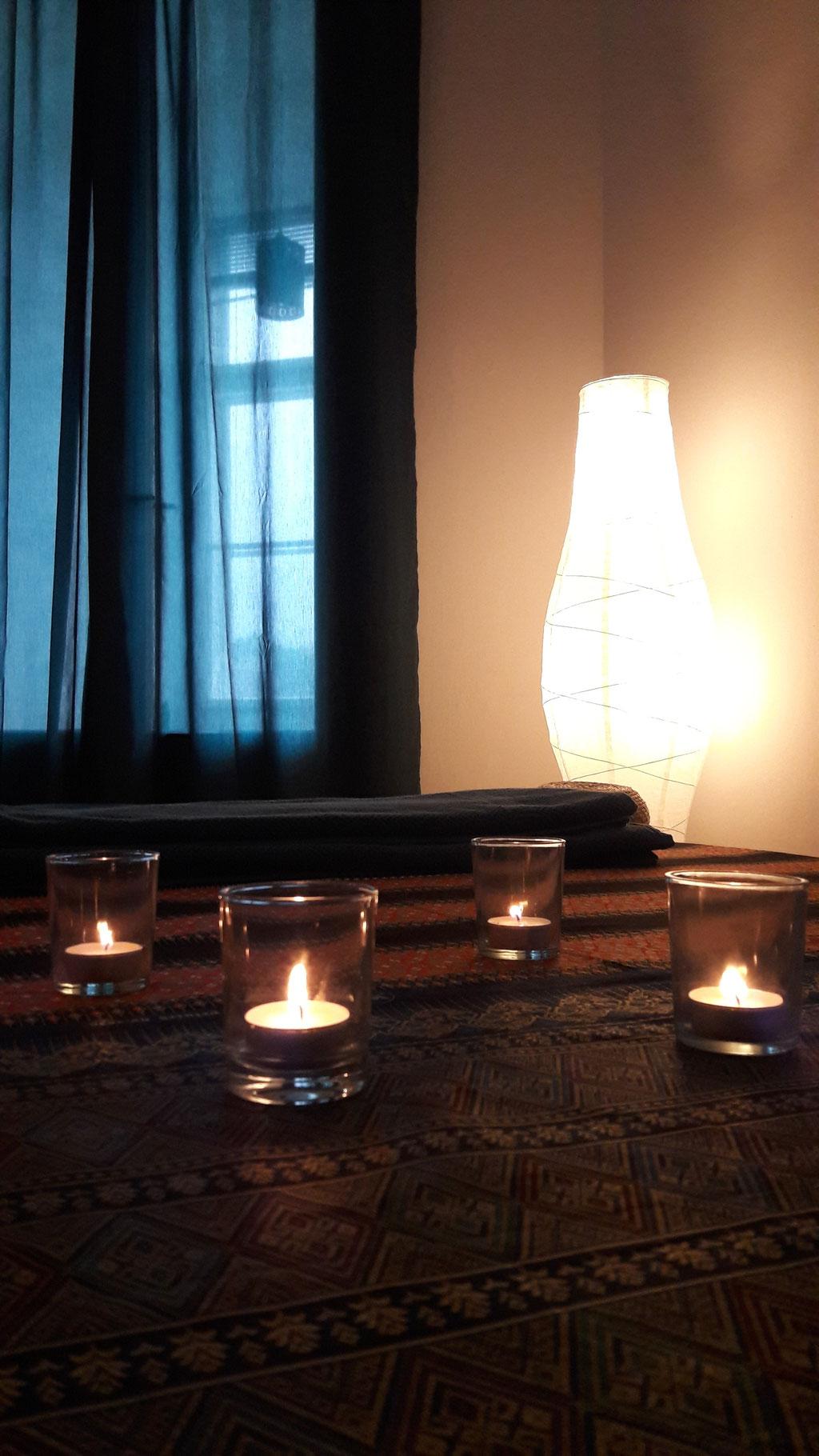 Beruhigende Details vor Beginn einer Thai Massage in Steyr