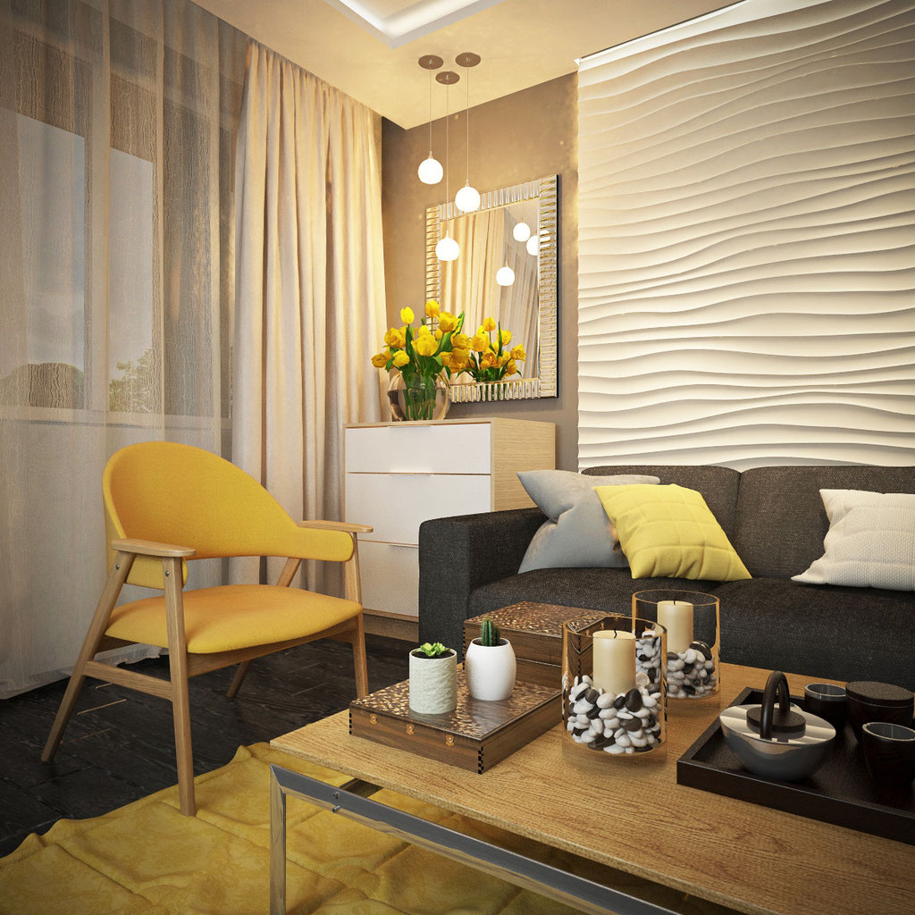 Дизайн-проект двухкомнатной квартиры. Славянский бульвар.