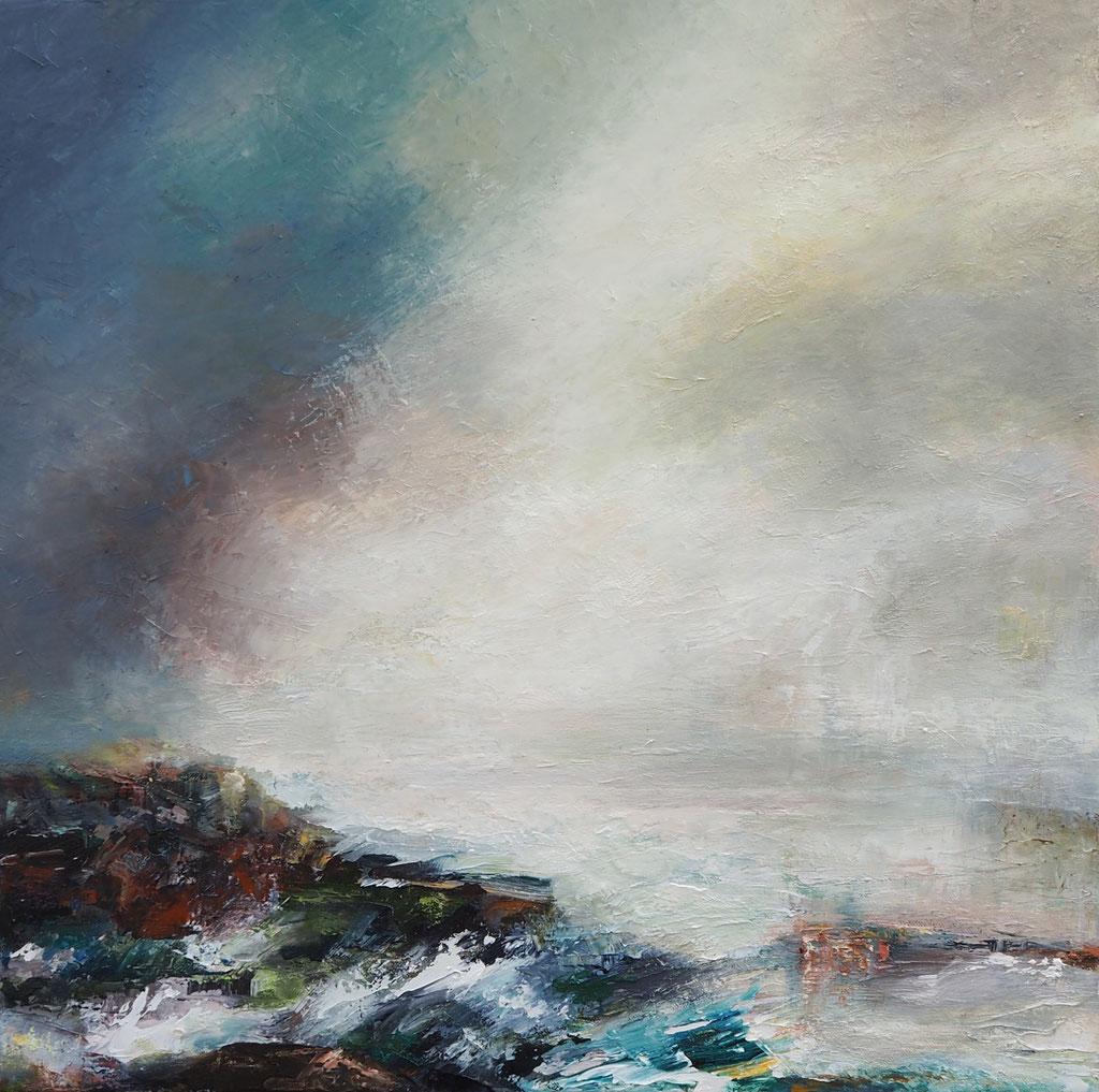 """""""Misty Bay"""" 50 x 50cms 2017"""