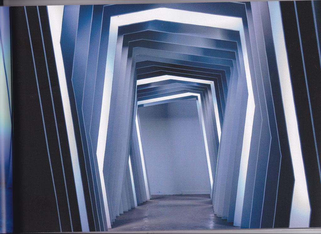 Couloir d'accès exposition TERMINAL en 2018 par Julien Menzel