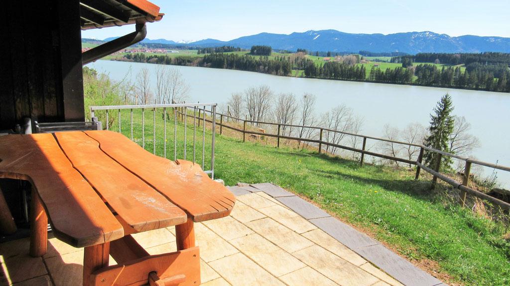 herrlicher Blick über den Lechsee