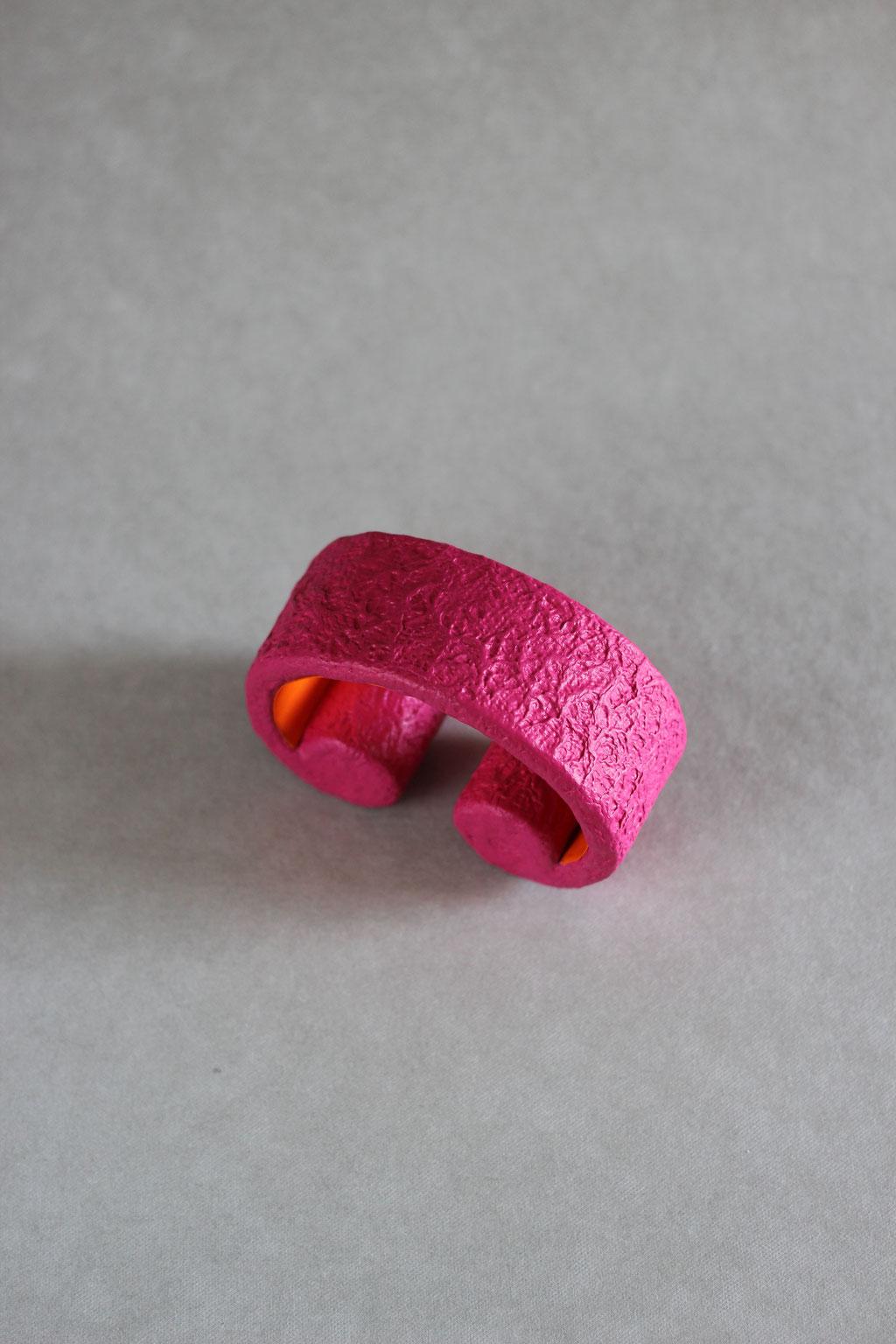 Scroll large pink/orange