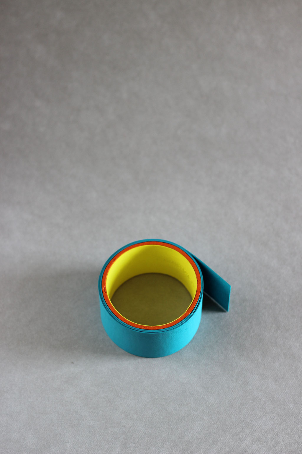 Rolle large turquoise/yellow