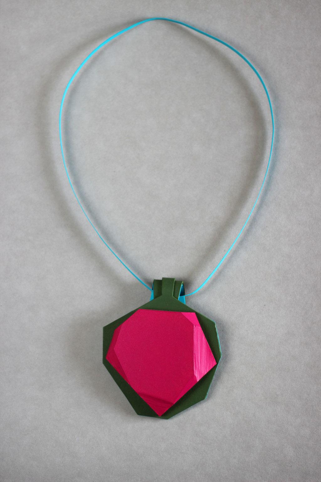 Kristl medaillon pink/green