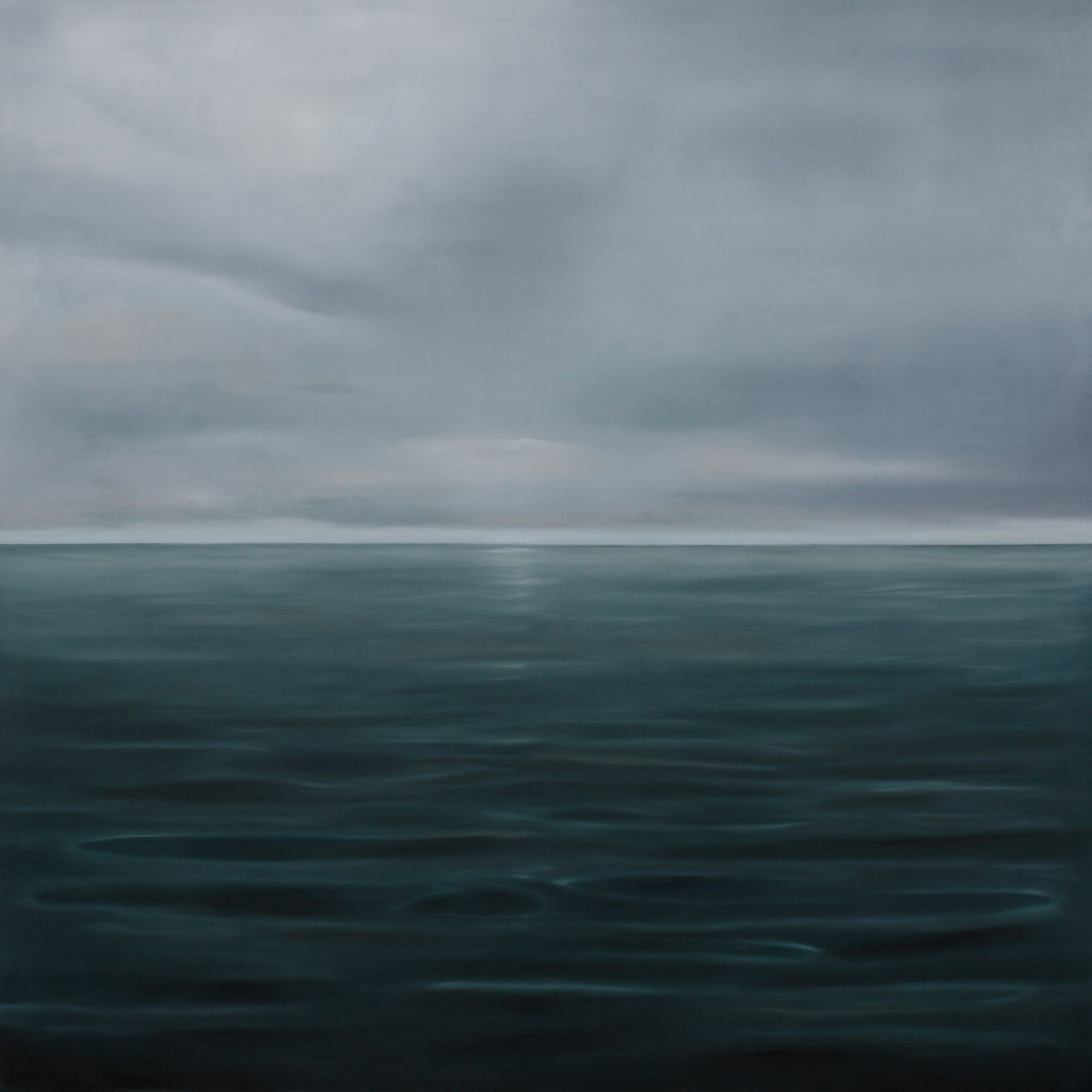 Tierra del Fuego_Pazifik, Öl auf Nessel, 140 x 140 cm