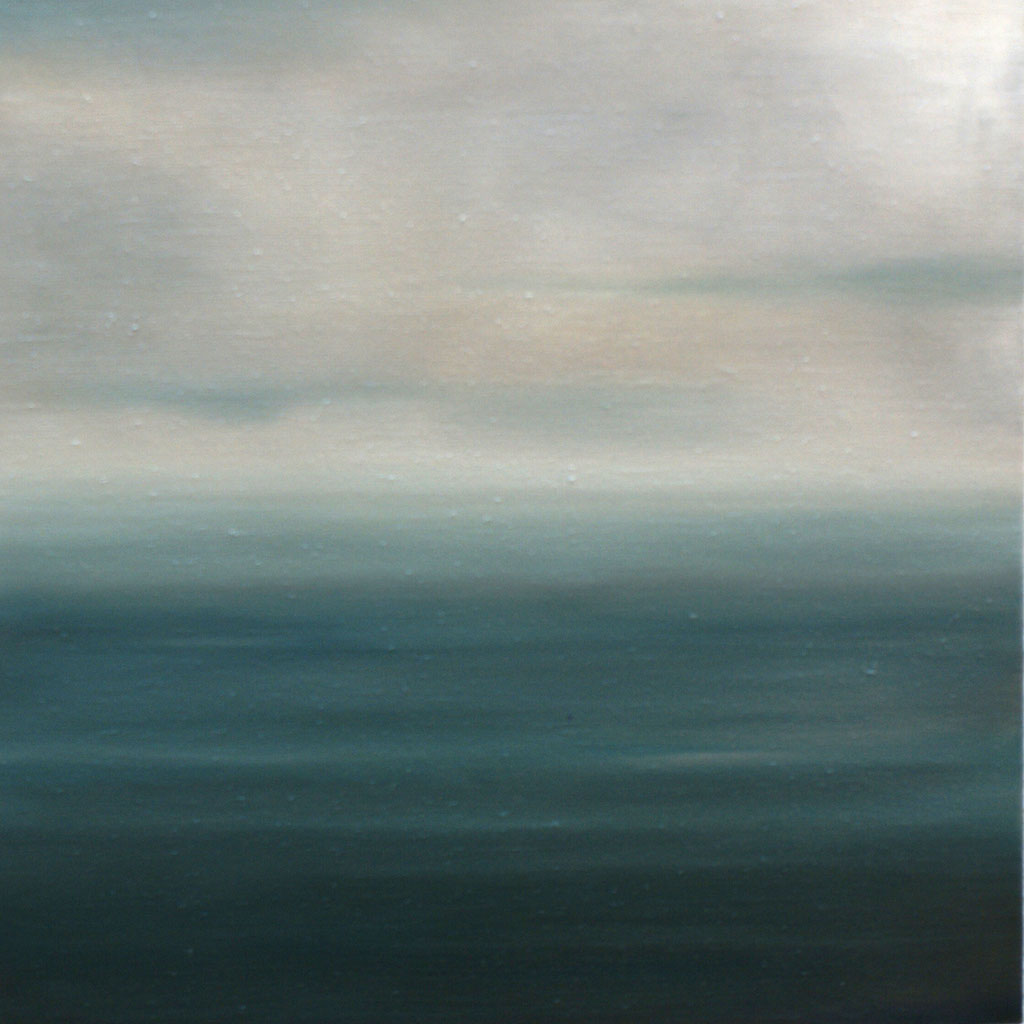 Puerto Natales Chile_Pazifik 3;Öl auf Leinwand, 50 x 50 cm