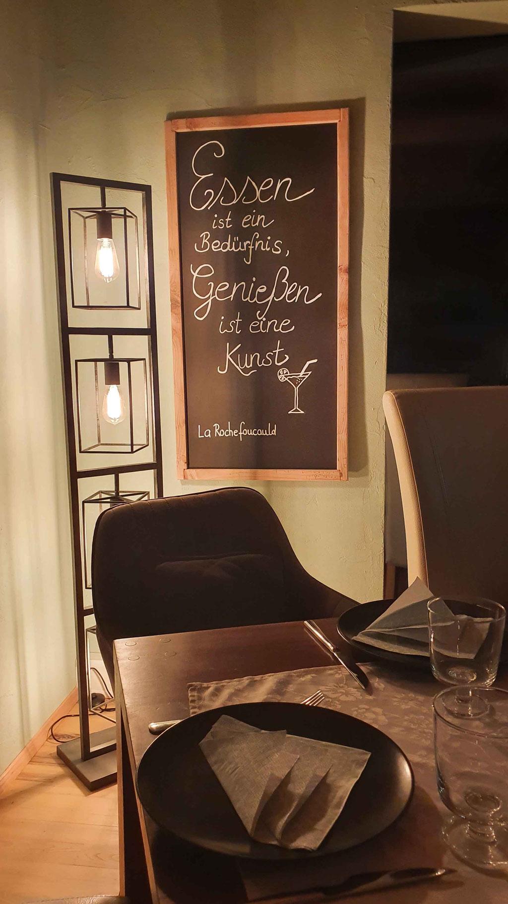 Wandtafel mit Spruch Fichte Altholz