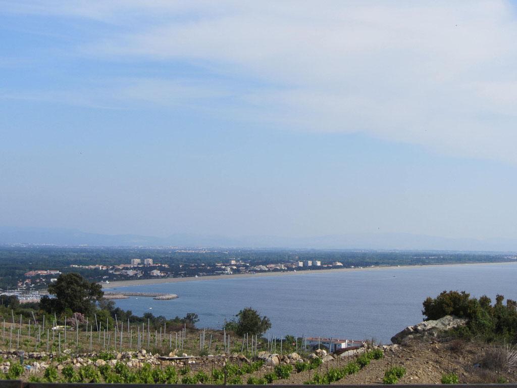 mit Blick auf Collioure und das Meer
