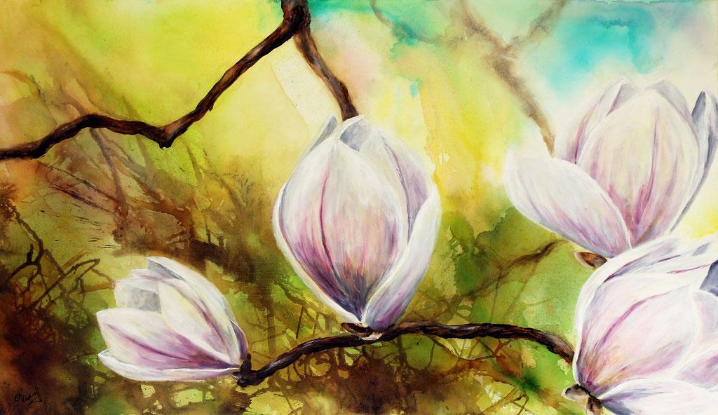 Magnolie | Acryl | 60cm x 100cm