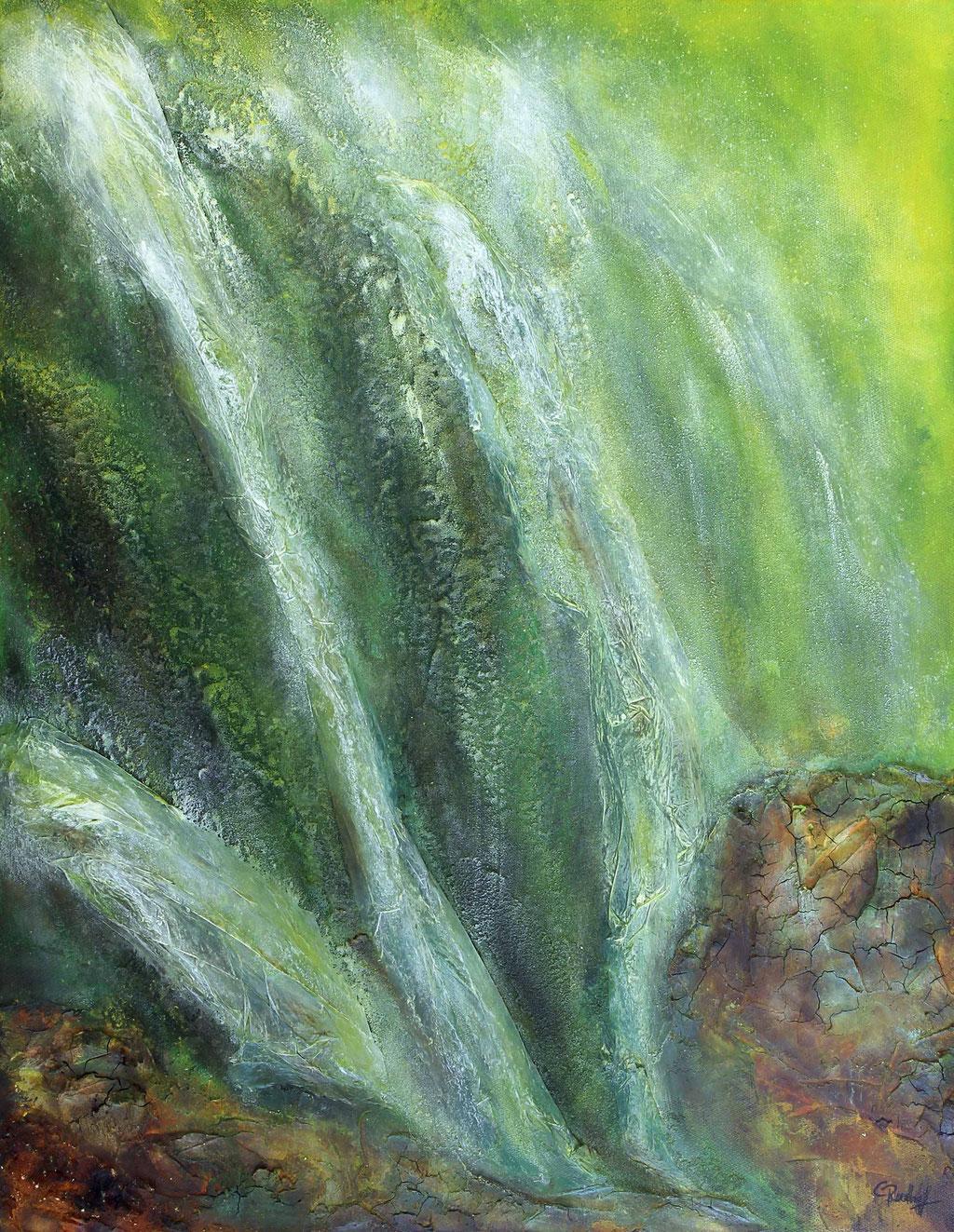 Wasserfall | Acrylmischtechnik | 60cm x 50cm