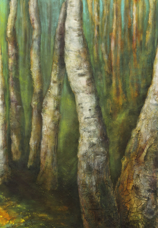 Birken 2 | Acrylmischtechnik | 100cm x 70cm | verkauft