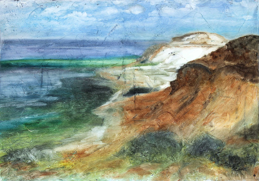 Morsum Kliff | Wachs mit Pigmenten | 60cm x 70cm
