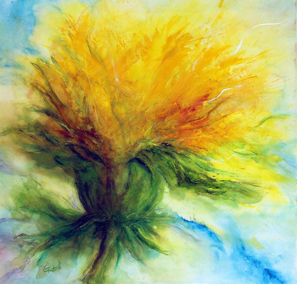Löwenzahnblüte | Acryl | 50cm x 50cm