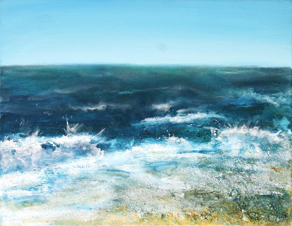 Meer | Acryl mit Sand | 40cm x 50cm