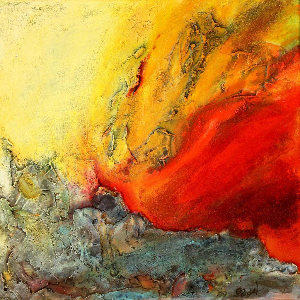 Feuer | Acrylmischtechnik | 40cm x 40cm | gerahmt