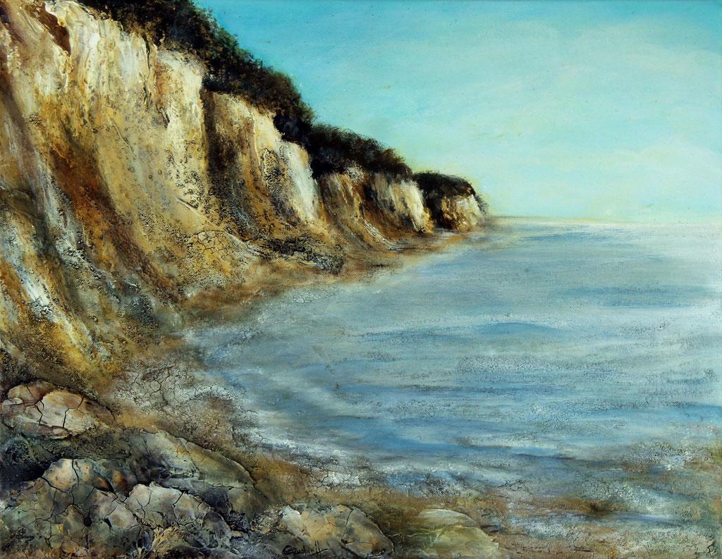 Kreideküste | Acrylmischtechnik | 40cm x 50cm