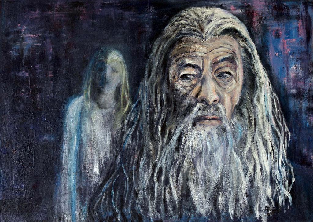 Gandalf | Acrylmischtechnik | 50cm x 70cm
