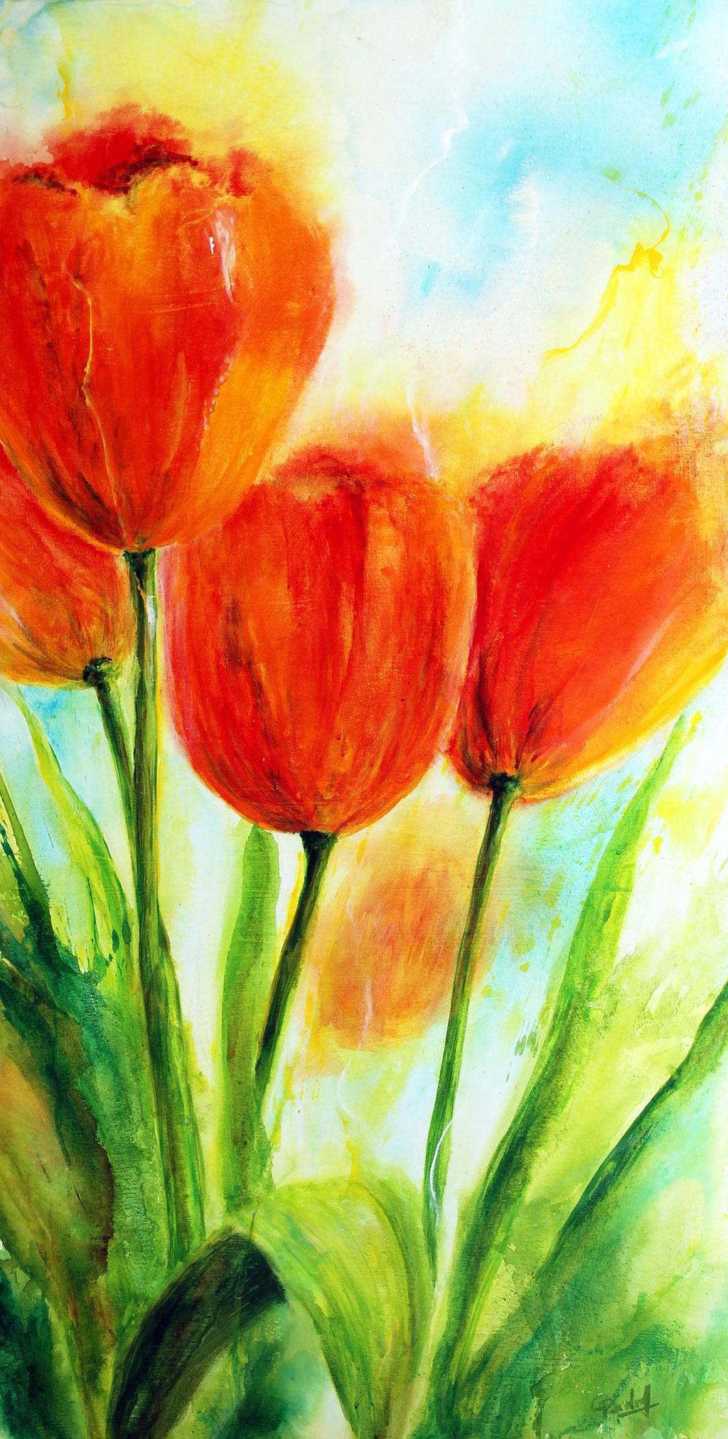 Tulpen | Acryl | 100cm x 50cm