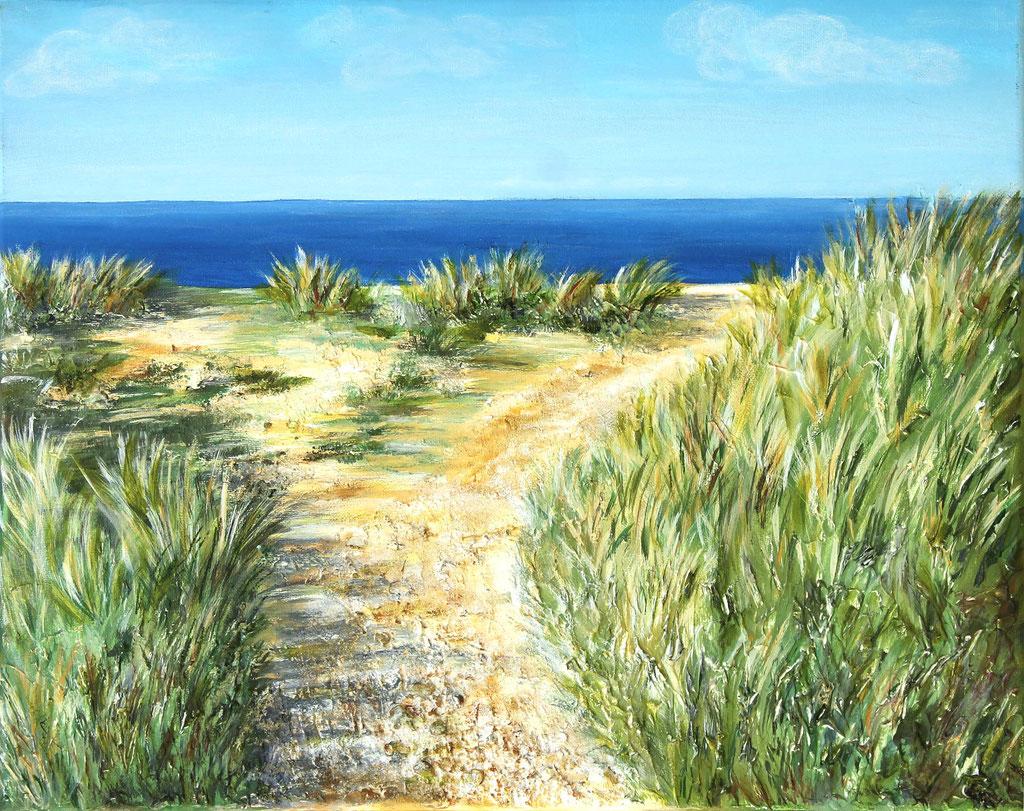 Sylt | Acryl mit Sand | 40cm x 50cm