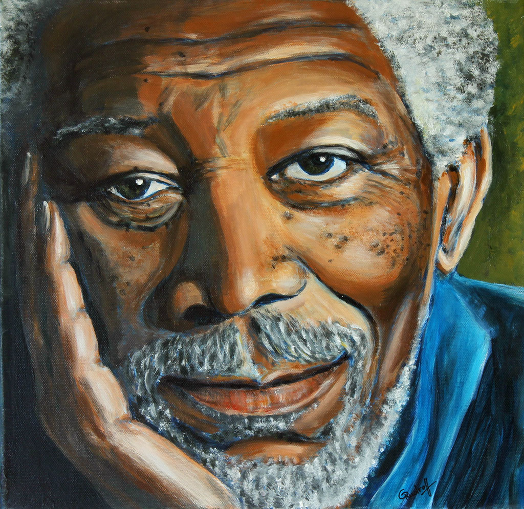 Morgan Freeman | Acryl | 40cm x 40cm