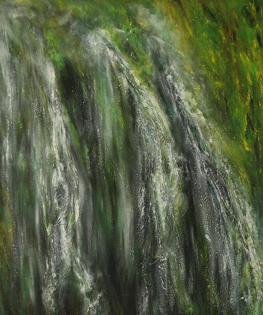 Wasserfall | Acrylmischtechnik | 120cm x 100cm