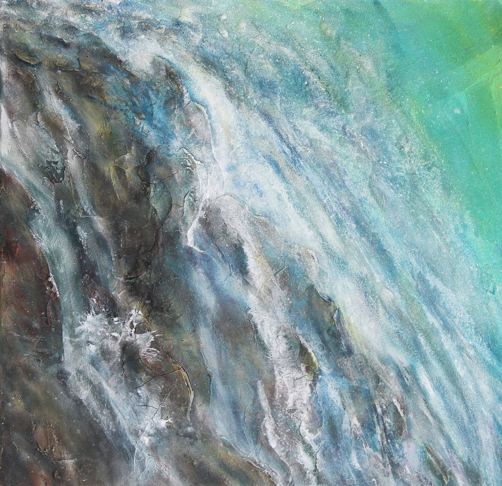 Waterfall I Acrylmischtechnik I 50cm x 50cm
