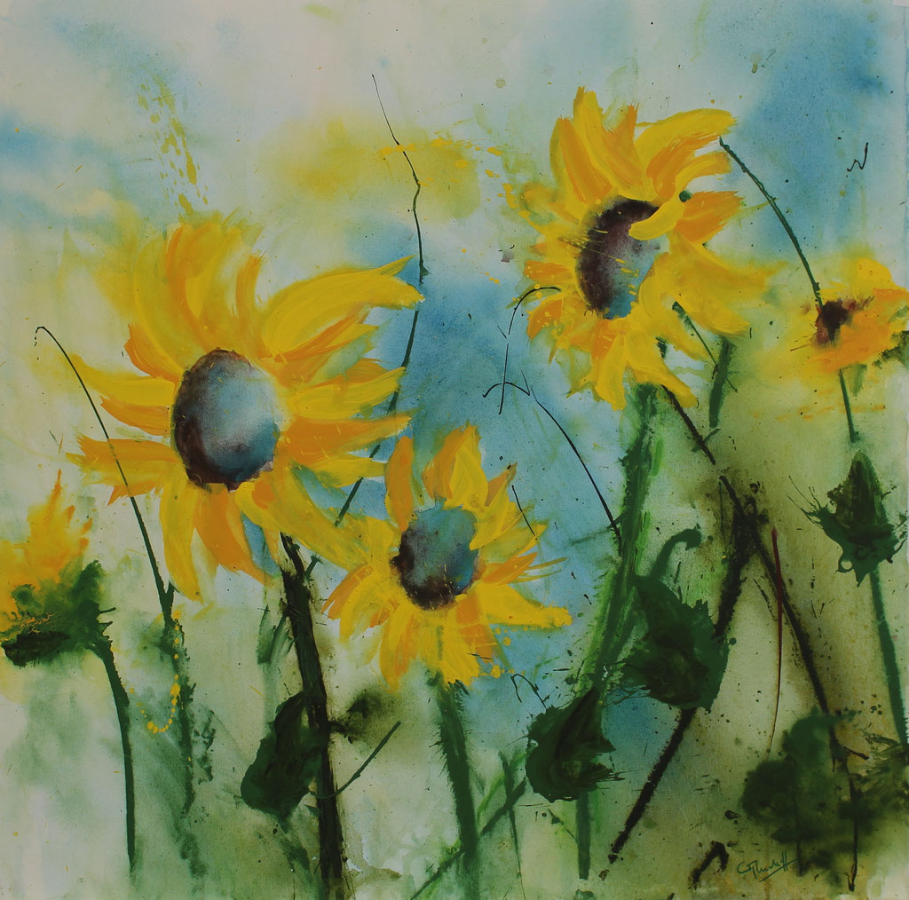Sonnenblumen 2 | Acryl | 80cm x 80 cm