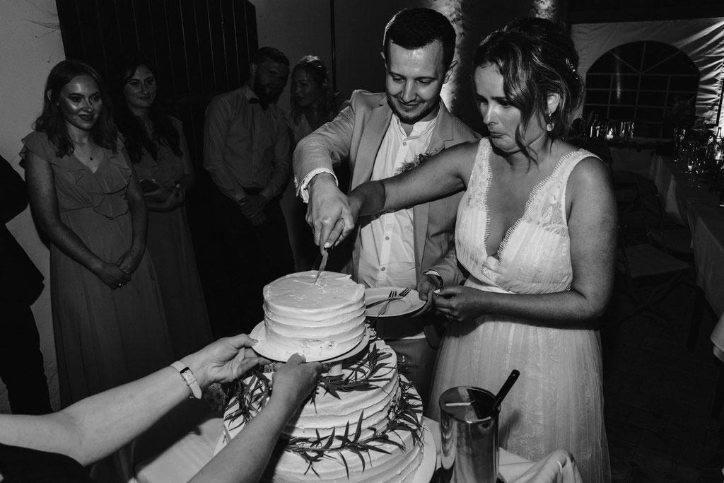 Anschnitt Hochzeitstorte Gut Rothensiek