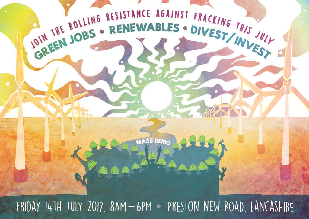 With Reclaim The Power, we shut down Caudrilla's fracking site at Preston New Road. One day of action of many during the month-long Rolling Resistance. 2016