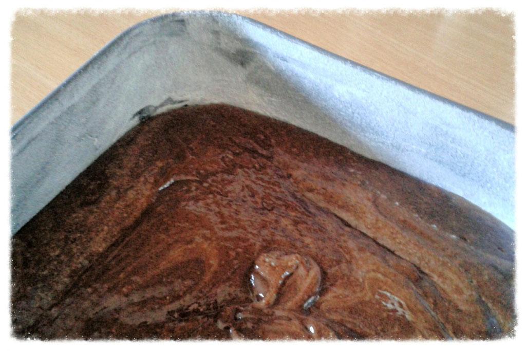 Katharinas fabelhafter Schokoladenkuchen vor dem Backen