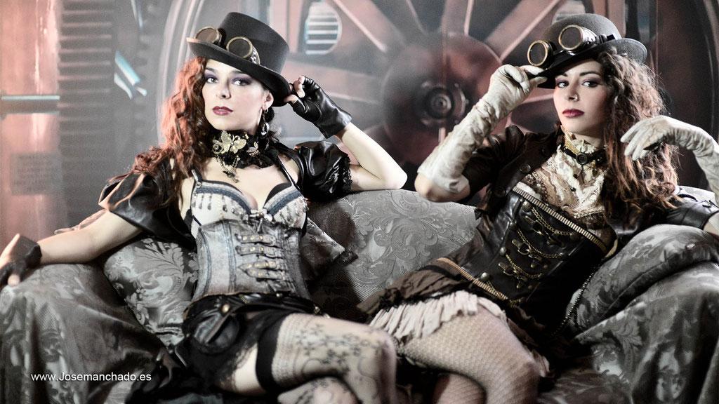 Moda Steampunk, semana moda gothica, book steampunk, sesion fotos steampunk, fotografo steampunk, modelos steampunk, agencia modelos madrid