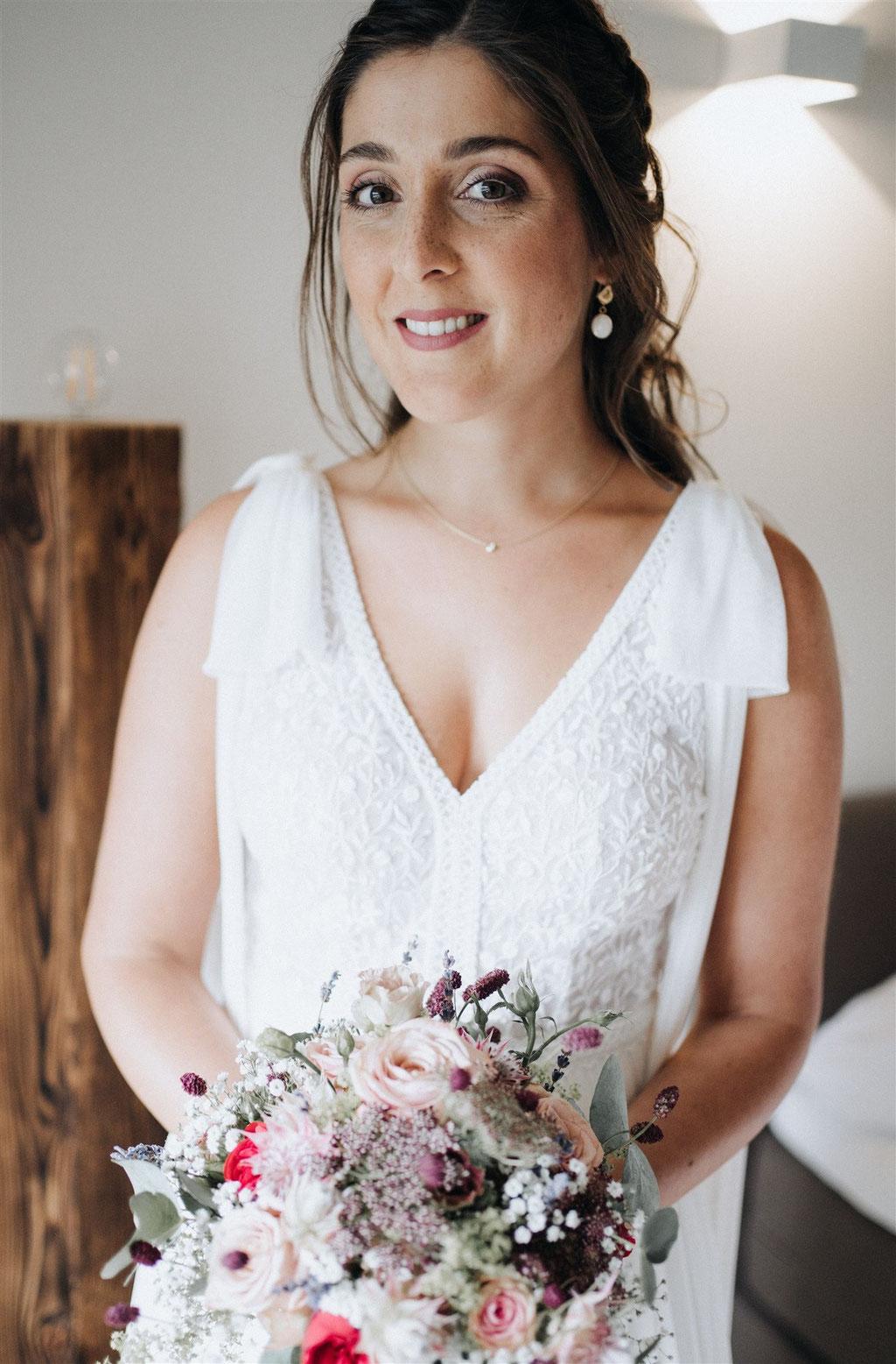 Braut 2020 Nadine, Make-Up und Haarstyling von Nadja Thoma, Fotos Lisa Ludwig, lilufotografie