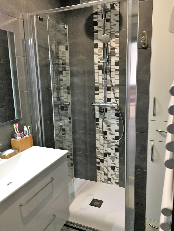Albertus rénovation salle de bain à Gap - 05000 Hautes Alpes carrelage mosaïque douche à l'italienne