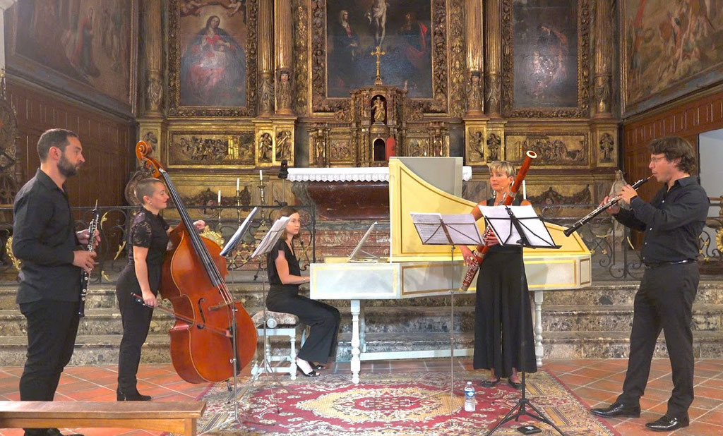 Juillet 2020 Ensemble Zelenka  dans l'église paroissiale(Photo Jean-Paul Fabre)