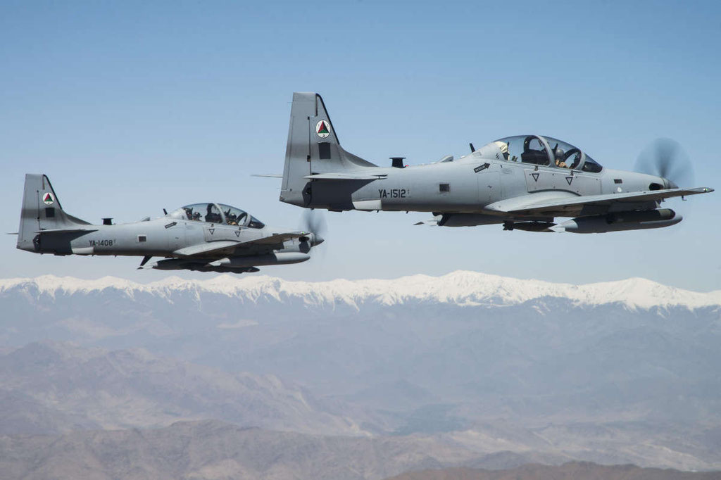 Due  A-29 dell' Afghanistan Air Force. (Foto: USAF)