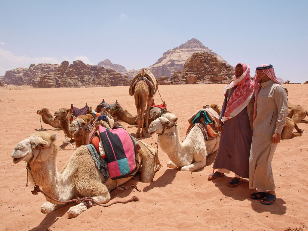 Jordanien: Dromedarritt in den Dünen von Lawrence von Arabien