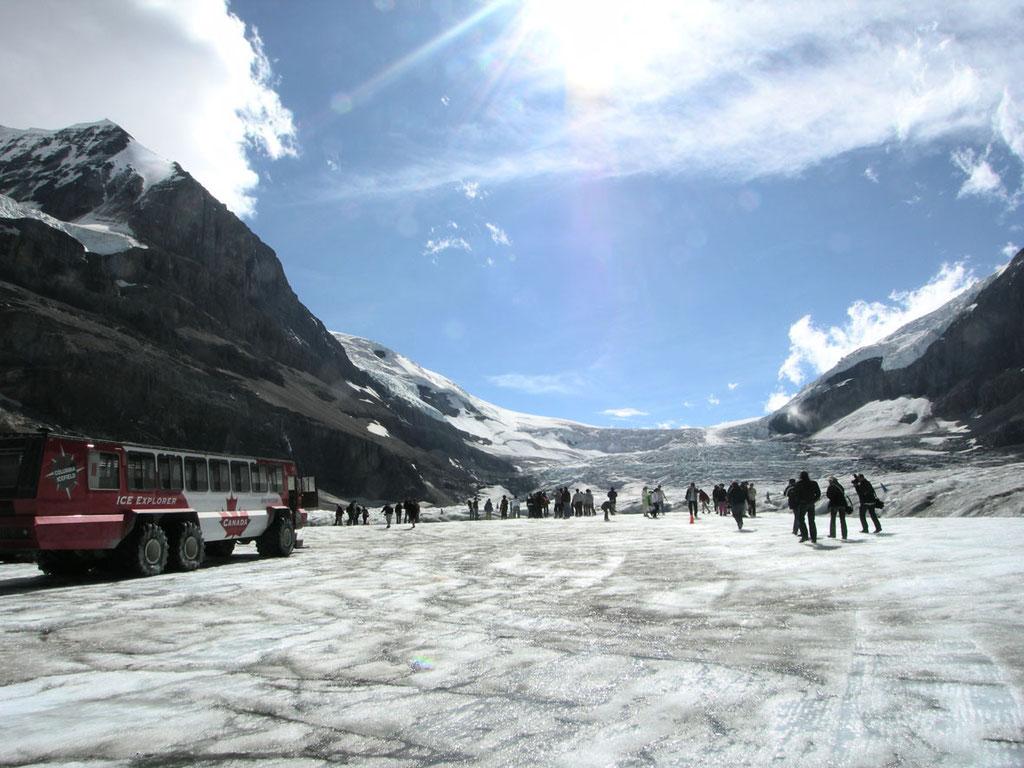 Kanada/Alberta: mit dem Eismobil auf den Athabasca Gletscher