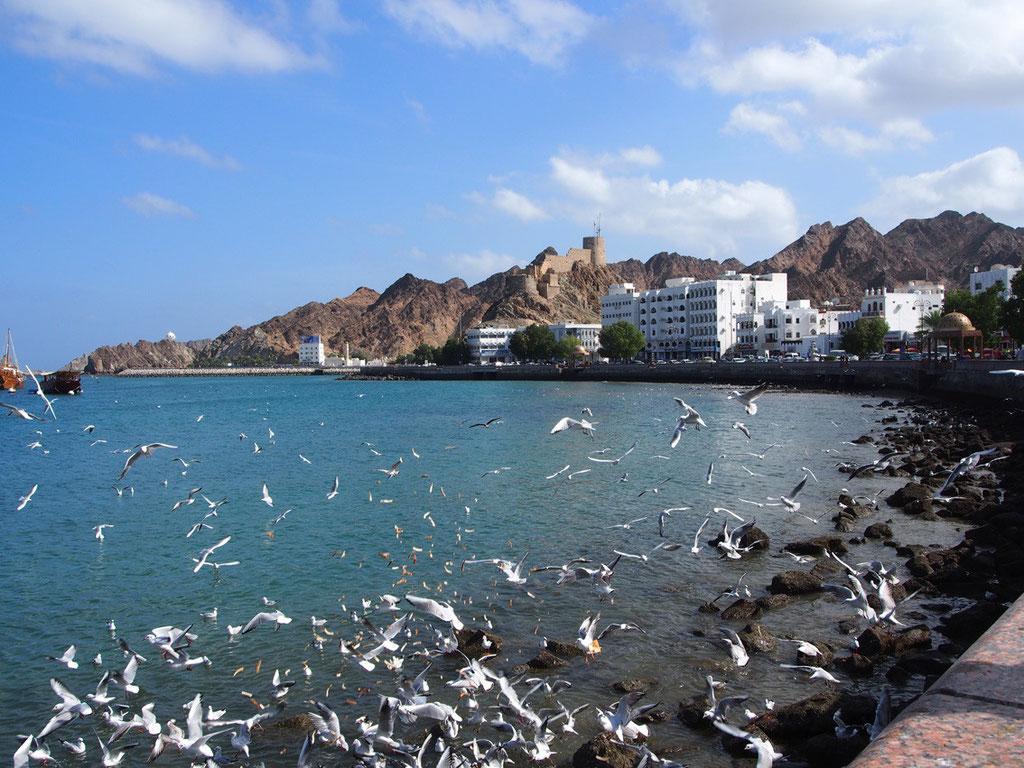 Oman: Flaniermeile am Hafen von Maskat